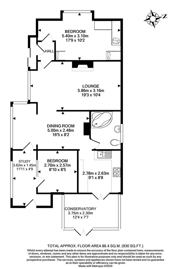 Floorplans For Cornwall Avenue, Peacehaven